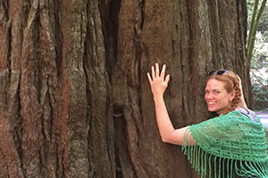 Heather Lee Farrell with Large Tree