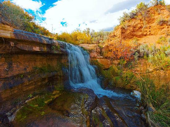 Beautiful waterfall in Southern Utah