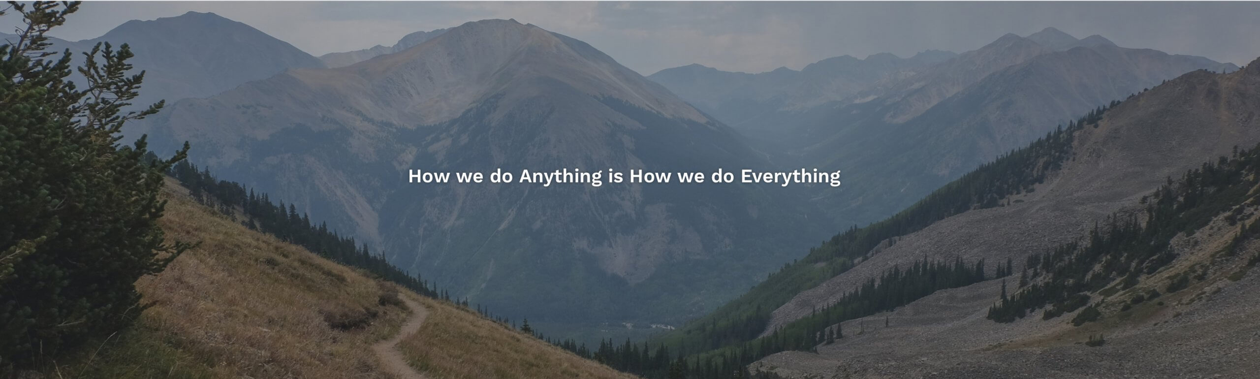 How we do anything is how we do everything with mountain backgrounds for digital programs