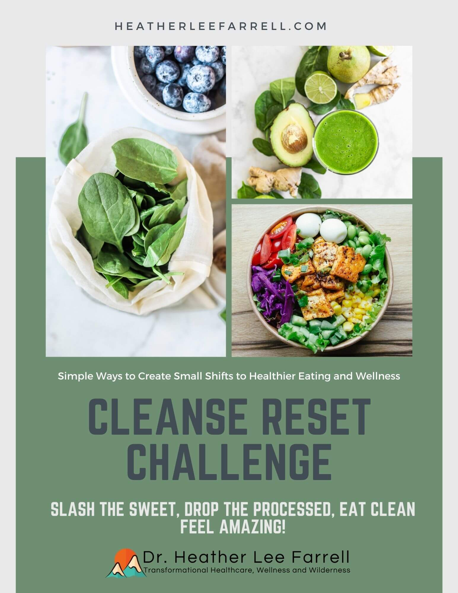 Cleanse reset challenge with food