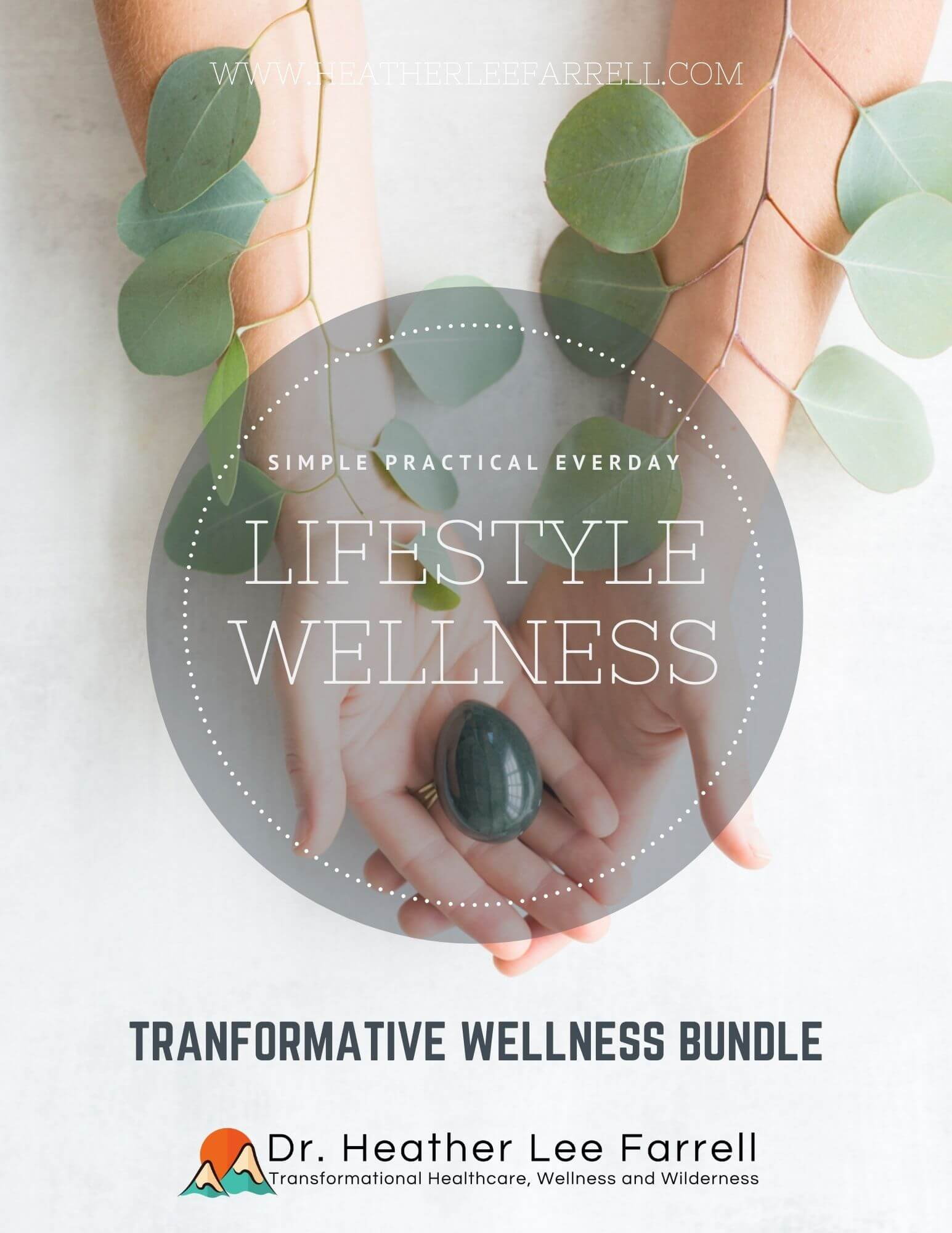 Lifestyle wellness person holding a plant